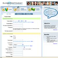 globaltestmarket australia website